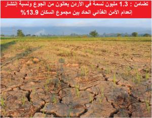 1.3 مليون نسمة في الأردن يعانون من الجوع