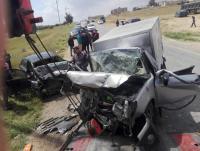وفاتان وإصابات بحادث تصادم في المفرق (صور)