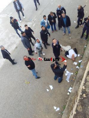 سقوط احد المعتصمين عن جدار مرتفع امام مجلس النواب