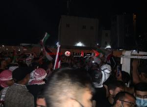 مسيرة حاشدة في حي نزال تضامنا مع فلسطين (صور)