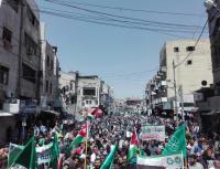 """مسيرة الحسيني : """"باسم الأردن وفلسطين صفقة القرن بندين"""" (فيديو)"""