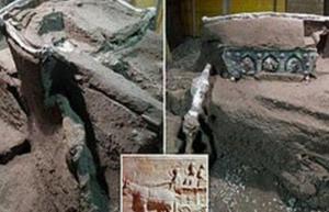 اكتشاف عربة أثرية رومانية بكامل هيكلتها