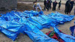 ارتفاع عدد قتلى مجزرة الموصل وانتشال الجثث ما زال مستمراً (صور وفيديو)