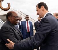 الرئيس السوداني عمر البشير يلتقي الاسد في سوريا
