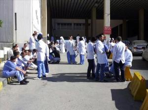 الممرضون في مستشفى جرش يضربون عن العمل اليوم