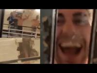 سجناء يصورون لحظاتهم السعيدة اثناء هروبهم (فيديو)