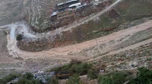 اغلاق طريق وادي الغفر في اربد