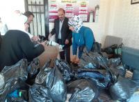 جمعية نور السماء الخيرية توزع ملابس على 250 طالبا