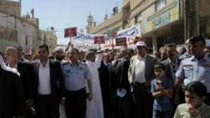 مسيرة حاشدة بحي الطفايلة ضد اطلاق النار بالمناسبات