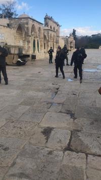 الإحتلال يغلق المسجد الأقصى (فيديو وصور)
