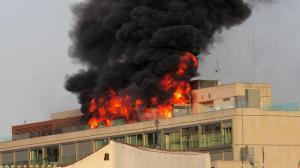 حريق فندق في العقبة
