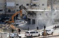 وادي الحمص  ..  حملات الهدم تطال 16 مبنى سكنيا