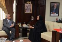 """""""عمان الأهلية"""" تستقبل المستشار الثقافي البحريني"""