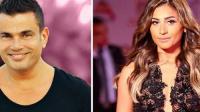 دينا الشربيني تحتفل بعيد ميلادها مع عمرو دياب (فيديو)