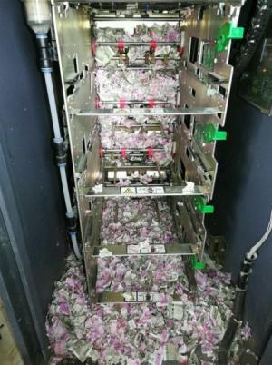 فئران تلتهم أوراقا نقدية داخل صراف الي (صور)