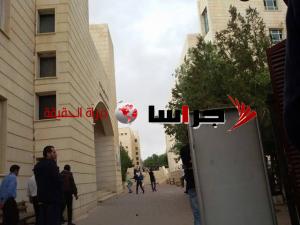 مشاجرة طلابية في في جامعة الاسراء (صور)