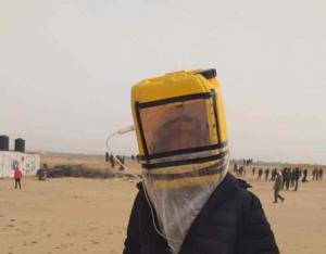 """اختراع فلسطيني جديد لمواجهة الغاز """"الإسرائيلي"""""""