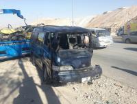 """وفاة وإصابة بحادث مروع على طريق """" خو - مصفاة البترول"""""""