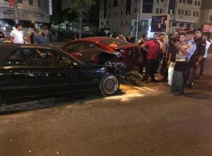 حادث سير في شارع المدينة المنورة فجر اليوم (صور)