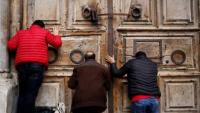 إعادة اغلاق كنيسة القيامة بالقدس إثر تفشي كورونا