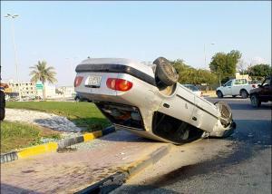 وفاة سيدة بانقلاب مركبة في بيرين