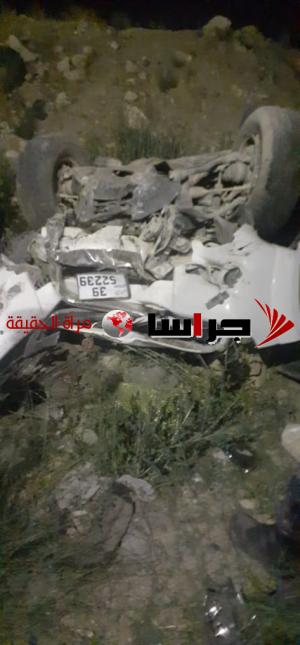 وفاة بتدهور مركبة بمنطقة عوجان في الزرقاء (صور)