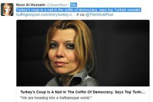 الملكة نور : محاولة الانقلاب بتركيا مسمار بنعش الديمقراطية