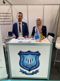 عمان الأهلية تشارك في معرض ومؤتمر باسطنبول
