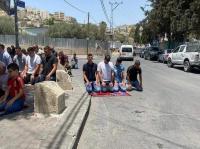 صلاة الجمعة احتجاجا على قرارات الهدم في سلوان