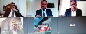 مناقشة رسالتي الماجستير الـ 27  و 28 عن بعد بجامعة عمان العربية