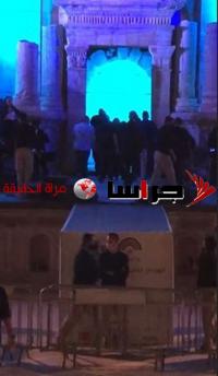 سقوط الفنانة ماجدة الرومي على خشبة المسرح بجرش (فيديو)
