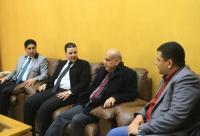 رئيس جامعة الزرقاء يزور كلية الصحافة والإعلام