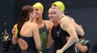 فريق سيدات أستراليا للسباحة يحطم الرقم العالمي