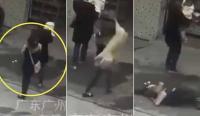 امرأة تتعرض لاصابة خطيرة والسبب كلب ! (فيديو)