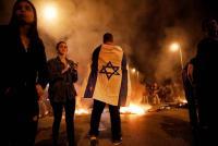 مظاهرات في تل أبيب احتجاجا على هزيمة الإحتلال في غزة