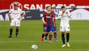 برشلونة يبحث عن الريمونتادا أمام إشبيلية لإنقاذ موسمه