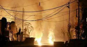 مقتل 37 مدنياً حرقاً في هجوم على الغوطة (فيديو)