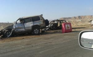 اصابة 4 اردنيين بحادث سير في السعودية