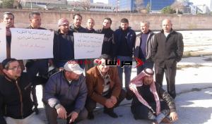 """موظفو """" الأردنية السورية """" يعتصمون أمام النواب (صور)"""