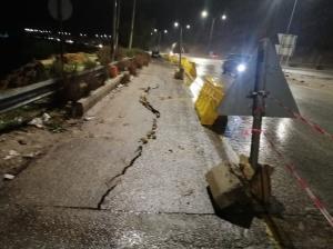 انهيار جزئي على طريق عمان جرش (صور)