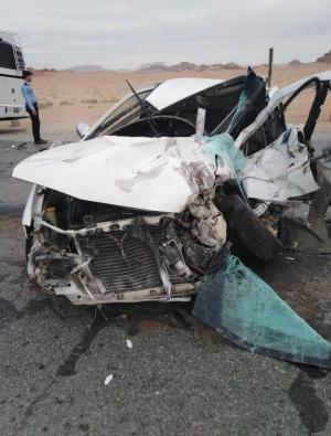 وفاتان و 4 إصابات بحادث تصادم في العقبة