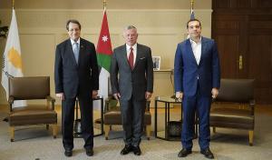 الملك: فرصة لتعزيز التعاون بين الأردن وقبرص واليونان