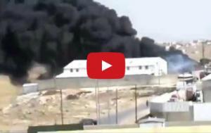 حريق في مصنع على طريق الحزام (فيديو)