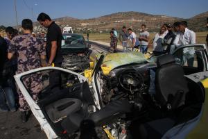 7 اصابات بحادث تصادم في اربد
