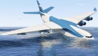 طائرة تسقط فوق مياه شاطئ وتسبب الهلع (فيديو)