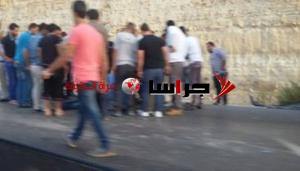 تدهور مركبة على طريق ياجوز (صور)