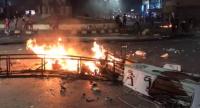 شغب واغلاق شارع بالاطارات المشتعلة في الرمثا (صور)