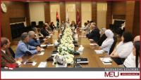 لقاءٌ حواري في جامعة الشرق الأوسط للحديث عن  قضايا التغطيات الصحافية