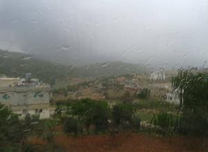 """عجلون : أعلى هطول مطري في """"عبين"""""""