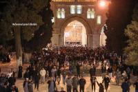 الآلاف يؤدون الفجر العظيم في الأقصى (فيديو وصور)